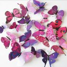 12pcs Wall Sticker Beautiful Colorful 3D Butterfly Room Decoration Stickers FT31