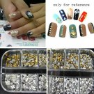 1200p/set 3D ACRYLIC Nail Art Rivet Studs Cool Spikes DIY Decoration Spots F183