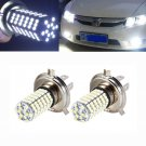 2PC 6500K H4 120 SMD Car Light Bulb Hi/Low Beam LED Fog Headlight 9003 HB2 Lamp