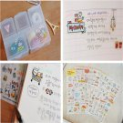 Fun Pig Transparent Calendar Diary Book Sticker Scrapbook Decoration 6 Sheet FT