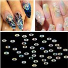 4mm 1000Pcs Fashion Nail Art Flatback Crystal AB Resin Round Rhinestone Beads FT