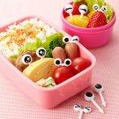 1 Set Cute Eye Mini Food Fruit Picks Baby Kid Forks Lunch Box Tool Tableware FT