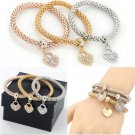 3PCS Women's Fashion Gold/Silver/Rose Gold Rhinestone Bracelets Bangles Jewelry