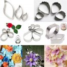 1X DIY Stainless Steel Peony Flower Leaf Biscuit Fondant Cake Cutter Baking Mold
