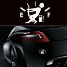 New JDM Funny Pull Fuel Tank Pointer To Full Hellaflush Vinyl Car Sticker Decal