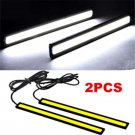 2PC Super Bright White Car COB LED Lights DRL Fog Driving Lamp Waterproof DC 12V