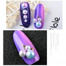 Glitter Nail Art Rhinestone Pearl Beads Steering-wheel Nails Decorations DIY FT