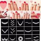 15Pcs/Set Fashion Nail Art Transfer Stickers 3D Design Manicure Tips Decoration