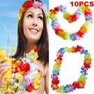 10PCS Lots Hawaiian Beach Necklace Leis Luau Party Lei Flower Decorations Crafts