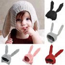 Toddler Girls Boys Crochet Earflap Beanie Hat Newborn Baby Kids Warm Soft Cap FT