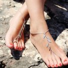 Retro Silver leaf Chain Anklet Ankle Bracelet Barefoot Sandal Beach Foot Jewelry