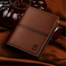 Fashion Men's Leather Bifold ID Card Holder Wallet Billfold Handbag Slim Clutch