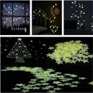 100pcs Special Home Wall Green Light Glow In The Dark Star Kids Room Stickers