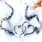Charm Sweet Silver Double Heart Ankle Bracelet Infinity Chain Foot Sandal Anklet