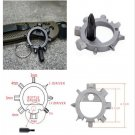 12 function Durable Stainless Keyring Bottle Opener Bicycle Adjust Tools FT
