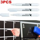 3X Magical White Liquid Chalk Pen/Marker For Glass Windows Chalkboard Blackboard