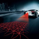 Cool Car Pattern Anti-Collision End Rear Tail Fog Driving Laser Caution Light FT