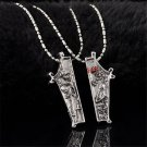 2PCS Punk Retro The Nightmare Before Christmas Eternal Love Couple Necklace Gift