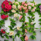 Beautiful Sweet Artificial Rose Flower Ivy Vine Garland Wedding Home Decor FT38