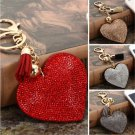 Fashion Heart Crystal Rhinestone Handbag Pendant Keychain Bag Keyring Key Chain
