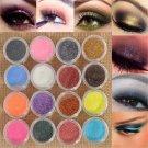16PC Mixed Color Glitter Powder Eyeshadow Makeup Eye Shadow Cosmetics Salon Set