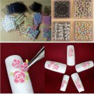 50Sheets Lots Flower 3D Nail Art Transfer Stickers Decals Manicure Decor Tips FT