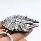 Fun Special Silver Star Wars Millennium Falcon Metal Keychain Keyring Gift FT59
