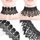 Punk Gothic Collar Black Lace drops Tassel Choker chain Necklace Costume Jewelry