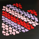 100Pcs Padded Fabric Love Heart Throwing Petals Table Wedding Party Decoration F
