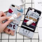One Case 3D Soft lazy Cat Soft Silicone Phone Case Cover For iPhone 6/6S/7 Plus
