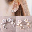 Charm Women Fashion Jewelry Elegant Crystal Rhinestone Ear Stud Earrings FT