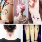 1Sheet Geometric Temporary Tattoos Body Arm Leg Waterproof Flash Tattoo Stickers