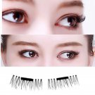 Black False Eyelashes Natural Eye Lashes Extension Handmade 4 Pcs 3D Magnetic