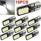 10pcs White CANBUS ERROR FREE LED T10 168 194 W5W Wedge 4 SMD 5050 Light bulb FT