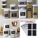 36PCS Lots Fun Blackboard Chalk Board Stickers Decals Craft Kitchen Jar Labels F