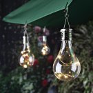 Waterproof Solar Rotatable Outdoor Garden Camping Hanging LED Light Lamp Bulb 1X