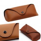 NEW Fashion Protable Leather Eye Glasses Sunglasses Protector Holder Box Case FT