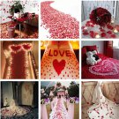 100pcs Romantic Wedding Party Simulation Rose Flowers Petals Supplies Decoration