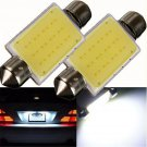 2PC 41mm Festoon COB 12 Chips LED Car Dome Reading Lights Car Lighting DC 12V