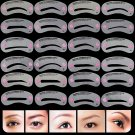 24 Styles Pro Eyebrow Shaping Stencils Grooming Kit Makeup Shaper Template Tool