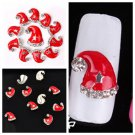 Lovely Xmas Hats Alloy Rhinestones Nail Art 3D Tips Glitters DIY Decoration FT56