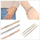 Fashion Women Crystal Rhinestone Charm Cuff Bracelet Bangle Chain Jewelry NEW