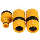 "3pcs/SET 1/2"" 3/4"""" Hose Pipe Fitting Set Quick Garden Water Connector Adaptor F"