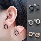 Cool Simple Women Circle Ear Studs Punk Rock Party Earrings Piercing Jewelry FT7