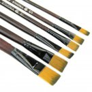 6PCS/Set Pro Nylon Acrylic Oil Paint Brushes For Art Artist Supplies Watercolor