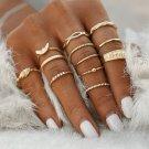 12Pcs/Set Gold Boho Midi Finger Knuckle Rings Women Fashion Jewelry Gift FT