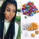 50X Fashion Colorful Dreadlock Beads Adjustable Hair Braid Rings Cuff Clips Tube