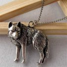 Occident Fashion Vintage Men Silver Wolf Long Chain Necklace Pendant Jewelry FT6