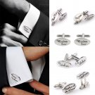 NEW Stunning Oval Mens Wedding Cufflinks Cuff Links Best Man Groom Usher Best FT