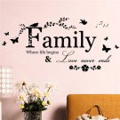Removable Family Letter Quote Vinyl Decal Art Mural DIY Home Decor Wall Stickers